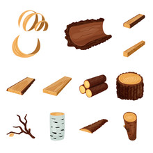 Isolated Object Of Signboard  And Wood Symbol. Set Of Signboard  And Wooden Vector Icon For Stock.