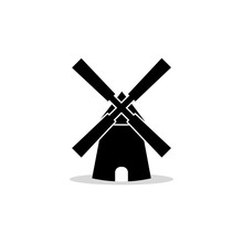 Windmill Logo, Sign Or Icon