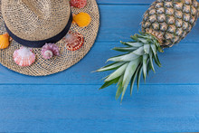Straw Hat With Sea Shells And ...