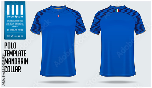 Chinese Collar Or Mandarin Collar Polo Shirt Mockup Template