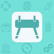 Gym Horse Vector Icon Sign Symbol