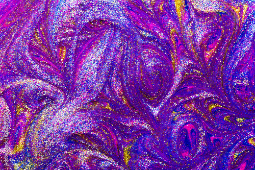Abstract seamless textured background of glitter paint swirls - 262599766