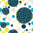 Creative seamless pattern with hand drawn textures. Abstract background. Polka dot pattern.