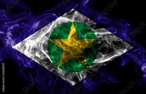 Fotografija  Mato Grosso smoke flag, states of Brazil