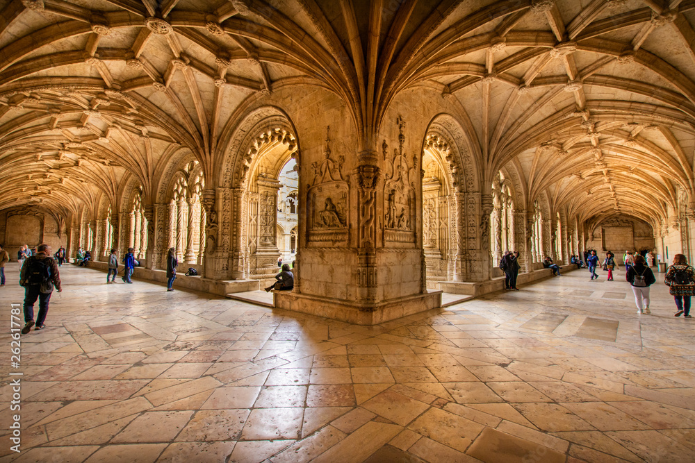 Fototapety, obrazy: interior of the monastery of jeronimo in portugal