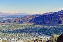 View Of Palm Springs And Mountains From Lykken Trail
