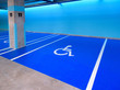 canvas print picture - underground parking lot for disabled persons