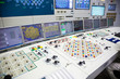 Block control panel of nuclear power plant.