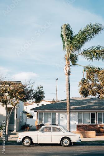 Carta da parati Vintage car in Seal Beach, Orange County, California