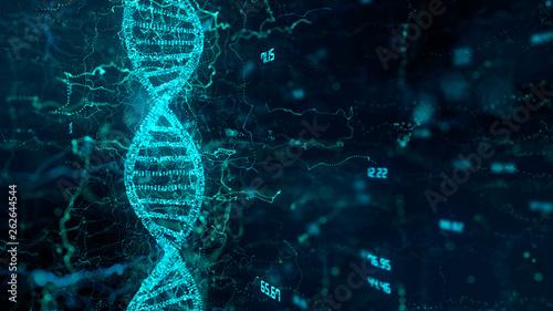 Fotografia  CRISPR Cas9 Genetic manipulation DNA double helix repair mechanisms of genetic e