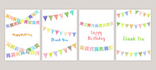 Watercolor Garland Cards