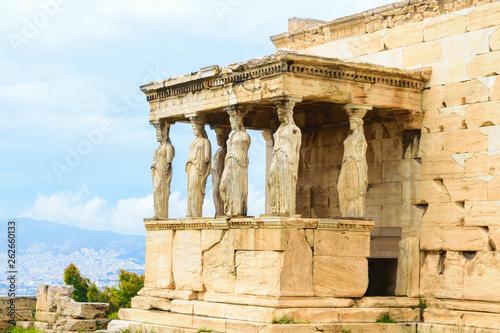 Fotografia  Porch of the Caryatids of Erechtheion ancient Greek temple