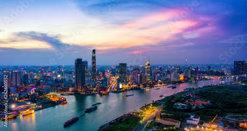 obraz PCV Aerial view of Ho Chi Minh City skyline