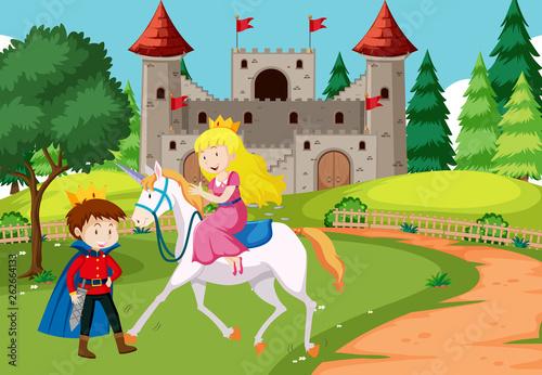 Fantasy fairy tale scene
