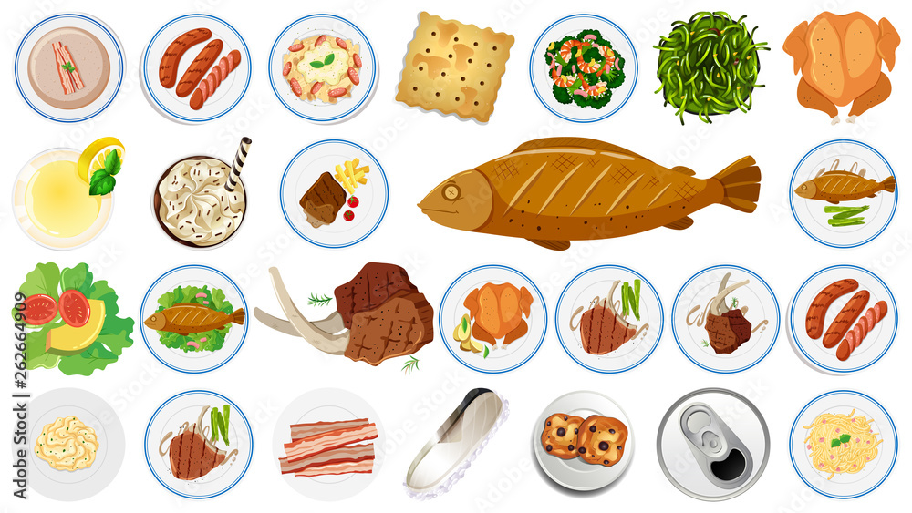 Set of different food <span>plik: #262664909 | autor: blueringmedia</span>