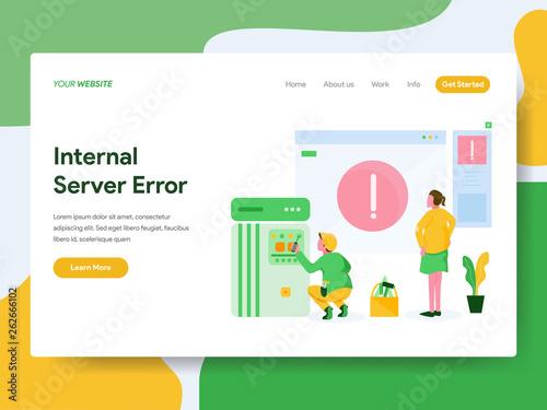 Fotografia  Landing page template of Internal Server Error Illustration Concept