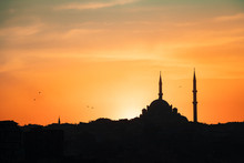 Beautiful Sunset In Istanbul