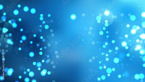 Fototapety, obrazy: Blue Bokeh Defocused Lights Background Vector Illustration