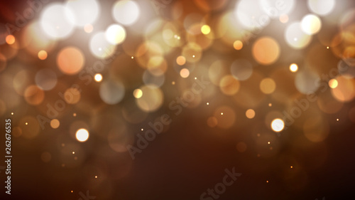 Obraz Dark Brown Blurred Lights Background Illustrator - fototapety do salonu