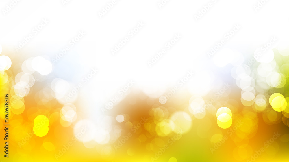 Fototapety, obrazy: Abstract Orange and White Blurred Lights Background