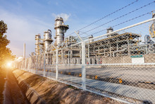 Restricted Area Factory. Petrochemical Oil Refinery Factory Plant.