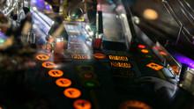 Pinball Machine In A Dark Room