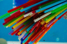 Bright Toxic Straws Made Of Pl...