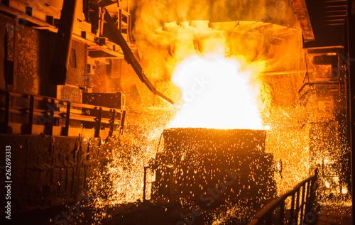 Carta da parati steel production in electric furnaces
