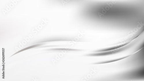 In de dag Fractal waves Abstract Grey and White Graphic Background
