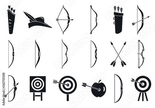 Fotomural Archery sport icons set
