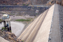 View Over An Empty Dam Wall