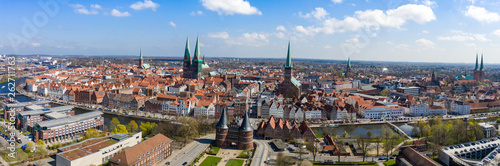 Obraz Lübeck Panorama HiRes  - fototapety do salonu