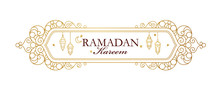 Vector Card For Ramadan Kareem...