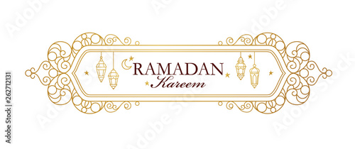 Vector card for Ramadan Kareem greeting. Wallpaper Mural
