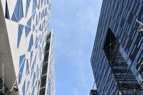 Cuadros en Lienzo Modern high buildings in Bjorvika district near modern architecture business area in the center of Oslo - Norway