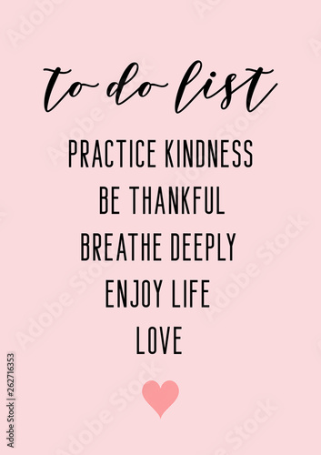 To do list. Motivational daily list. Canvas Print