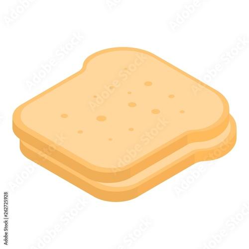 Cuadros en Lienzo Slice of bread icon