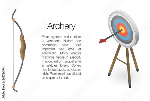 Slika na platnu Archery concept banner