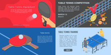 Playing Table Tennis Banner Se...