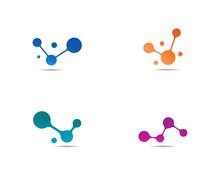 Molecule Logo Vector Icon Illu...