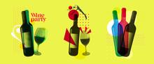 Idea For Wine Event. Illustrat...