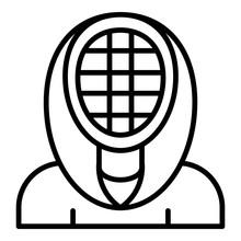 Fencing Mask Icon. Outline Fen...