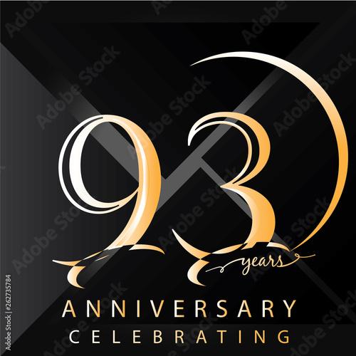 Fotografie, Obraz  Anniversary 93 years numbers