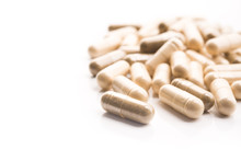 Medical Herbal Capsules Isolated