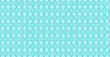 Turquoise Blue Green Pattern With Rhombuses And White Dots Stars. Solid Elegant Wedding Backdrop. Element Of Design For Party. Arabic Traditional Ornate. Premium Luxury Toy Print. Fabric Little Princ