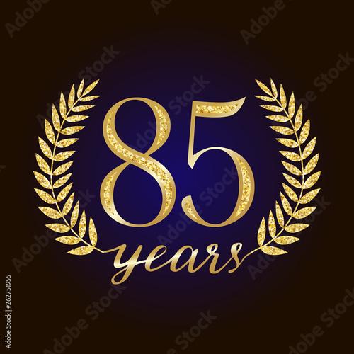 Fotografia  85 th years old logotype