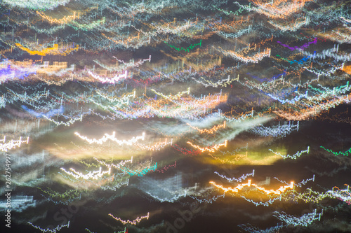 Photographie  Abstract long exposure, experimental surreal photo, city and vehicle lights at night