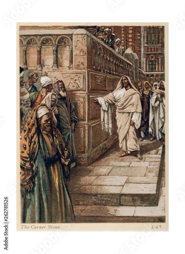 Obraz na plátně  Christian illustration