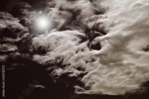 Fototapety, obrazy: dramatic sky and clouds,moonlight,white,weather,clouds,view,nature