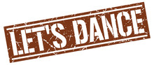 Let's Dance Square Grunge Stamp